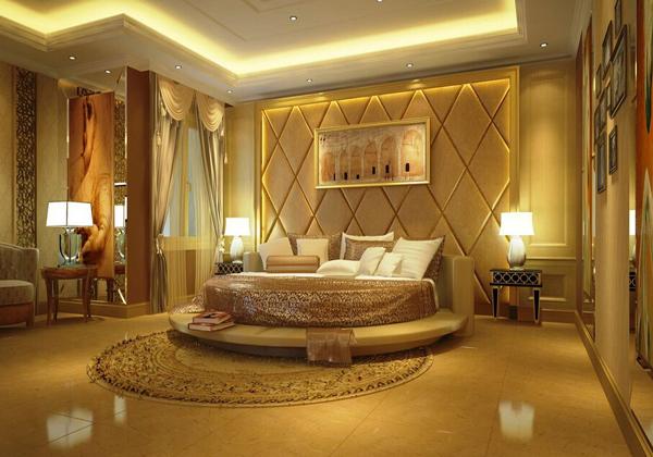 欧式软包床头背景墙弧形一直是欧式建筑喜欢的形状