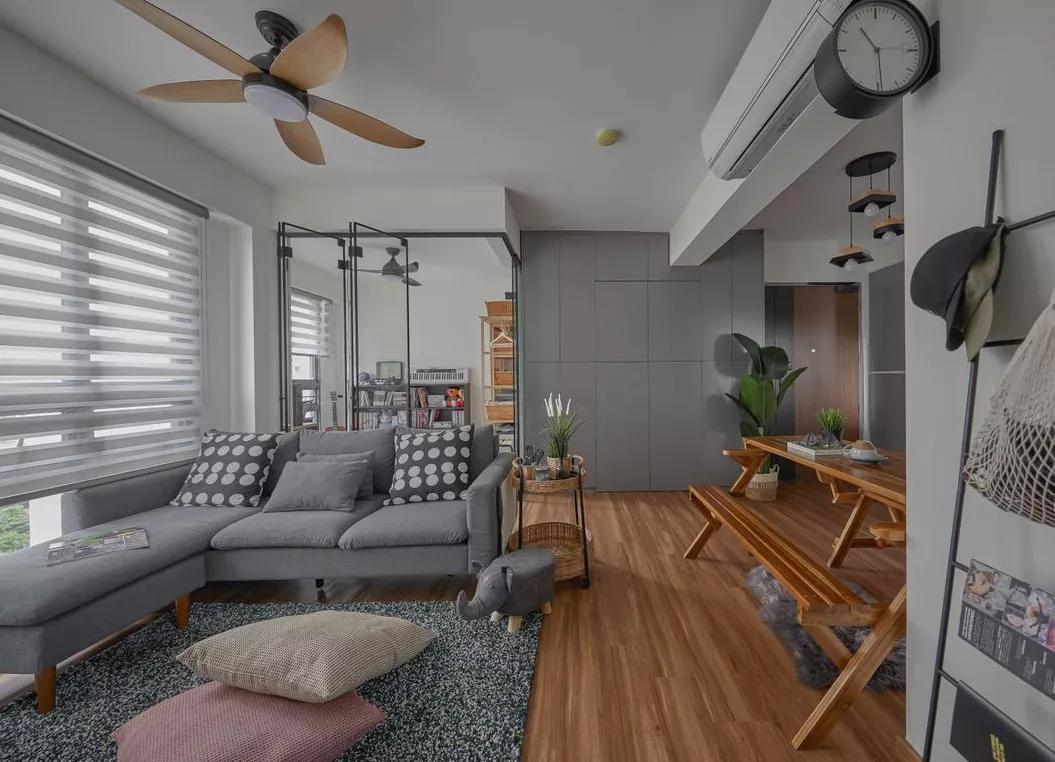 【72㎡一居改两居】奋斗6年终于换上大房子,72㎡两室两厅,亲自设计的效果超满意