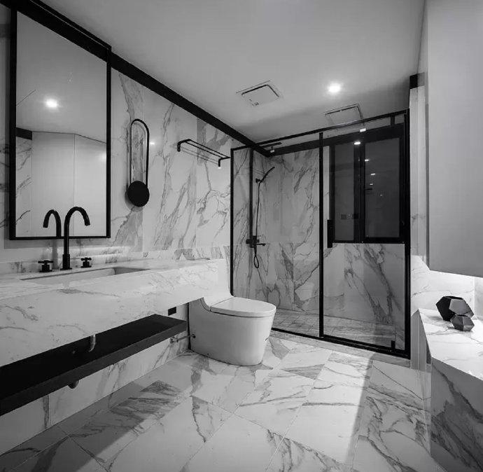 【145㎡中式风格装修案例】卫生间装修注意事项都有哪些