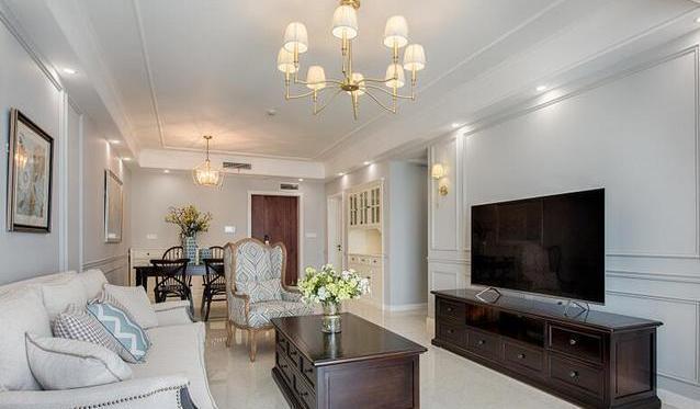 【125平方三居室装修效果图】表姐按揭买新房,装修又贷款30万,看看这效果值么?