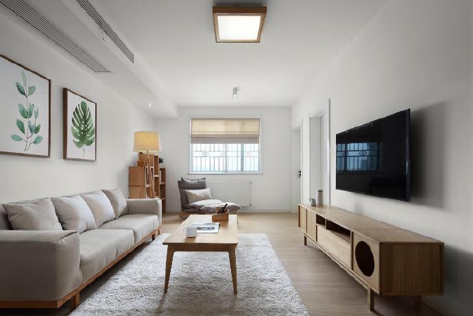 【100㎡日式简约风装修案例】客厅装修这几点风水禁忌要当心